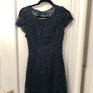 Lulus Forest Green Lace Mini Dress size Medium